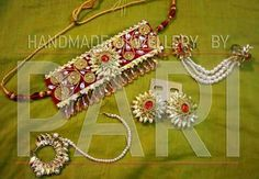 Gota Patti Jewellery, Thread Jewellery, Fabric Jewelry, Flower Jewellery For Haldi, Silk Thread Necklace, Diy Tassel, India Jewelry, Rakhi, Ribbons