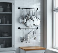 Wallniture Thick Kitchen Wall Mount Rail 24 Inch Hanging Utensil Organizer Rack for Pots Pans Lids Utensils Set of 2 Gray Kitchen Rails, Kitchen Wall Storage, Kitchen Utensil Holder, Kitchen Utensils, Utensil Organizer, Kitchen Utensil Organization, Kitchen Cupboard, Cupboard Storage, Kitchen Hooks