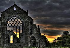 beautiful image of Holyrood Abbey ruins ... Edinburgh, Scotland. Photo by David P. of Light and Dark, Flickr