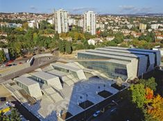 The new Zamet Center in the Croatian city of Rijeka is a public square that links the interior program with the exterior neighborhood.