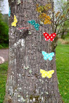 Rebecca DIY: DIY: Fjärilsgirlang * Butterfly country