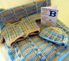 *Free Crochet Pattern: Minnesota Layette Set by Julia Schwartz: Sweater, Hat and Blanket