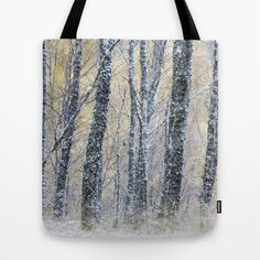 Glenfeshie Birch Trees Tote Bag by Don Hooper - $22.00