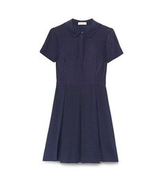 KENDRA DRESS - TORY NAVY DAISY DOTS B