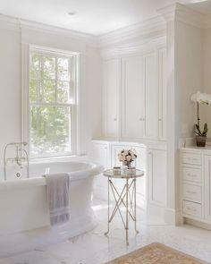 bathroom white feminine
