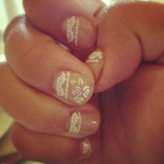 Gauzy lace nail decals that will make you pretty-squeal.   31 Daintiest Dainty Things That Ever Happened