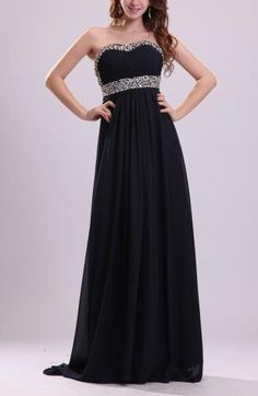 Sweetheart Sexy Prom Dress - Order Link: http://www.theweddingdresses.com/sweetheart-sexy-prom-dress-twdn7631.html - Embellishments: Pleated , Sequin , Paillette , Rhinestone; Length: Court Train; Fabric: Chiffon; Waist: Empire - Price: 132.89USD