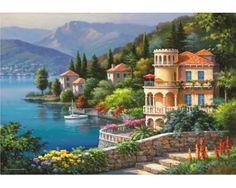 Puzzle Anatolian Villa con Vista al Lago de 2000 Piezas