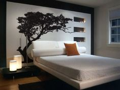 "Vinyl Wall Art Decal Sticker Tree Shade 72""x85"" 6ft Tall #312"