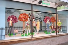 "Fashion Window Displays | ... Walk in the park"" Spring Window Display 2013 
