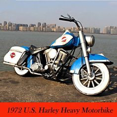 Antique 1972 U.S. Military Harley Motorcycle Model