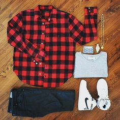 Mens Fashion Style – The World of Mens Fashion Plaid Shirt Outfits, Outfit Jeans, Dope Outfits, Casual Outfits, Men Casual, Fashion Outfits, Checked Shirt Outfit, Plaid Shirts, Men's Outfits