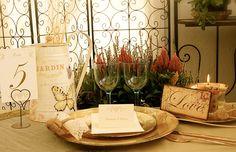 Decoración para una boda exótica y campestre