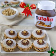Nutella® is a registered trademark of Ferrero. The recipe described here is intended for domestic use only. The realization of this recipe does not authorize the use of the Nutella® brand. Nutella Biscuits, Nutella Cookies, Yummy Cookies, Sweet Recipes, Cake Recipes, Dessert Recipes, Nutella Recipes, Italian Cookies, Pumpkin Recipes