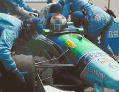 "Jos Verstappen ""on fire"" Hockenheim 1994"