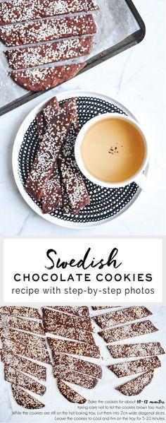 Swedish Chocolate Cookies (Chokladsnittar) | http://eatlittlebird.com
