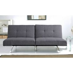 ABBYSON LIVING Aspen Grey Fabric Foldable Futon Sleeper Sofa Bed - Overstock Shopping - Great Deals on Abbyson Living Futons