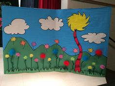 Seussical - background of clover patch