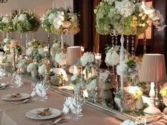 Flowers... White Wedding Flowers, Weddings, Table Decorations, Furniture, Home Decor, Decoration Home, Room Decor, Wedding, Home Furnishings