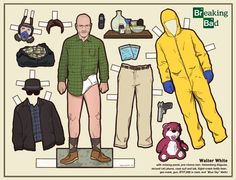 walter white paper dolls. jesse sold separately.