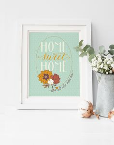 New House Gift Modern Calligraphy Hand Lettered Wall Art Housewarming Newlywed Home Decor
