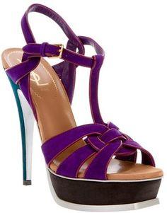 4f1ea1a204e Saint Laurent  Tribute  sandal - ShopStyle