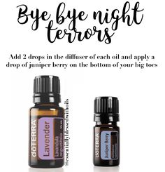 Does your child suffer with night terrors? They don't have to anymore. With these two amazing pure essential oils applied to the bottom of their big toes and in a diffuser they will have a restful night sleep. To learn more contact me at www.mydoterra.com/csingler