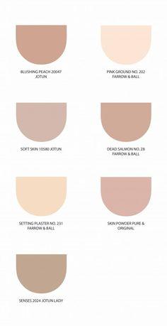 Sesongens beste interiørfarger - Dagny Fargestudio Warm Bedroom Colors, Neutral Paint Colors, Paint Colors For Home, House Colors, Flat Color Palette, Neutral Colour Palette, Pantone, 1001 Palettes, House Color Palettes