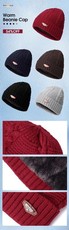 Stretchy Cuff Beanie Hat Black Skull Caps The Alien Monk Winter Warm Knit Hats