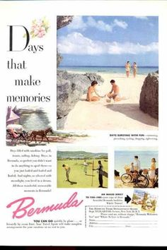 Bermuda Travel Golf United Airlines (1952)