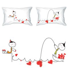 Couples in Love Pillowcases | nipnoos.com