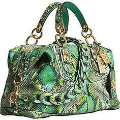 Coach python handbag