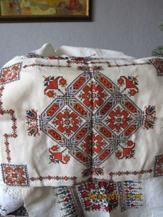 Embroidered pillow, Kyustendil