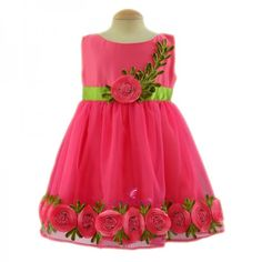 Simply Cute Floral Bloom Frock (Fuchsia) To Know Available Prices Visit: http://simplycute.in/?utm_content=buffer0138b&utm_medium=social&utm_source=pinterest.com&utm_campaign=buffer #Party_Wear_Frock #Birthday_Wear #Frocks