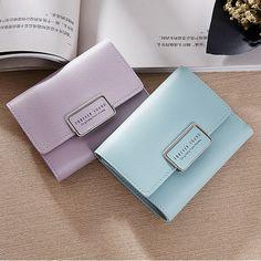 Модні короткі жіночі гаманці Власник посвідчення особи Маленька гаманець  молнии монет кишенькові гаманці жіночі шкіряні гаманці 396e438847504