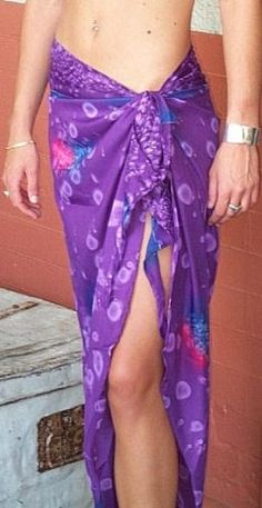 The sarong, as its most commonly known here in Southern California, is a large sheet of fabric that can be wrapped and tied around the body in numerous ways. Commonly sold as a simple beach cover-up in the States, the sarong is known all over the...
