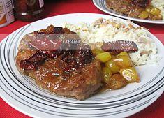 Храна за мойте канибали: Грилован свински врат с карамелизиран лук и сушени...