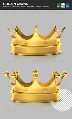 After effects project rigged arrows dimensions for blueprint 3d render of golden crown psd layered reflection and shadow onoff malvernweather Image collections