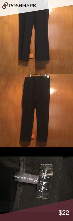 Nicole Miller Black Dress Pants Size 16 NWT Essential Easy Care Pant...The Perfect Fit Nicole Miller Black Dress Pants Size 16 women New with tags Nicole Miller Pants Boot Cut & Flare