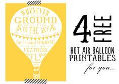 hot air balloon printables - Buscar con Google