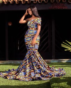African Prom Dresses, Ankara Dress Styles, Latest African Fashion Dresses, African Print Fashion, African Outfits, Ankara Gowns, African Clothes, African Wear, African Women
