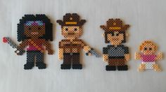The Walking Dead Perler Bead Sprites: Magnets / Wall by Beadbrook