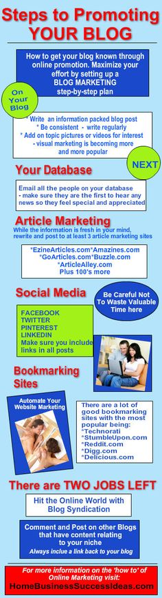Blog Marketing Plan - Steps to Promoting your Blog Infographic!