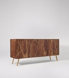 Herning sideboard in hardwood and brass