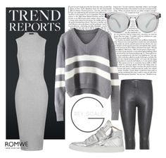 """Grey scale"" by geekyfashionblog ❤ liked on Polyvore featuring Topshop, Balenciaga, Dolce&Gabbana, MM6 Maison Margiela, women's clothing, women, female, woman, misses and juniors"