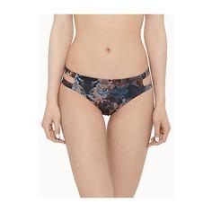 Tavik Chloe double-strap bikini bottom ($51) ❤ liked on Polyvore featuring swimwear, bikinis, bikini bottoms, brazilian panty, brazilian bikini swimwear, floral two piece, cut-out swimwear and bikini bottom swimwear