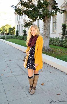 Inspiração para casaco amarelo de lã