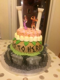 Hercules birthday cake made for my best friend!