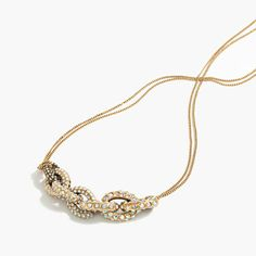 Crystal link necklace from J. Crew on ShopStyle right now!