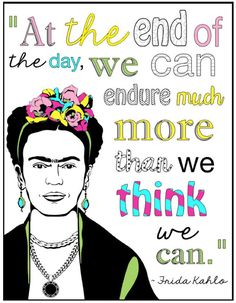 Frida Kahlo FREE quote coloring page from Art with Jenny K.